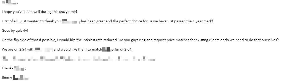 Email Home Loan Pricing Request