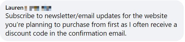 email signup welcome bonus money saving tip